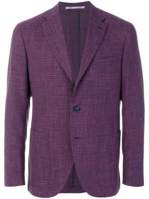 Пиджак в клетку Cantarelli. Цвет: розовый и фиолетовый