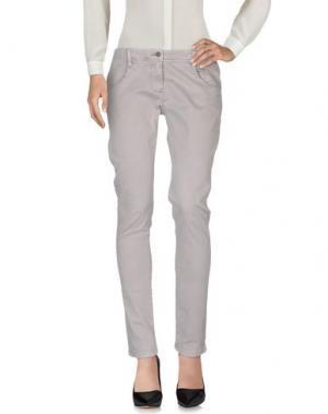 Повседневные брюки KRISTINA TI. Цвет: серый
