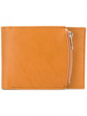 Бумажник с отделением на молнии сбоку Maison Margiela. Цвет: телесный