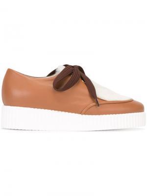Туфли с панелью из овчины Joshua Sanders. Цвет: коричневый