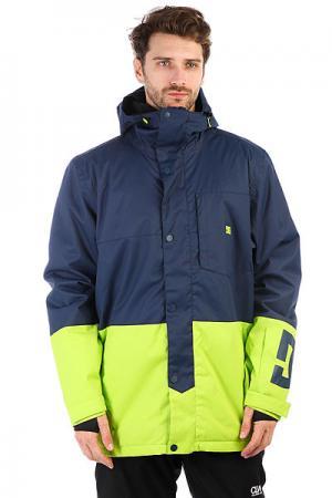Куртка утепленная DC Defy Jkt Insignia Blue Shoes. Цвет: синий,желтый