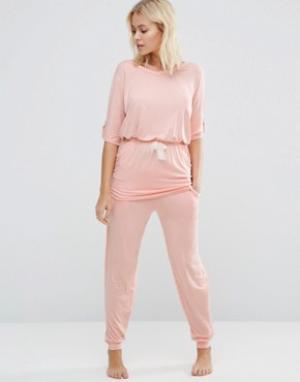 Heidi Klum Intimates Штаны для дома Rise & Swing. Цвет: розовый