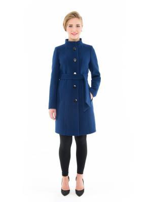 Пальто GallaLady. Цвет: синий