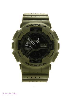 Часы G-Shock GA-110LP-3A CASIO. Цвет: оливковый
