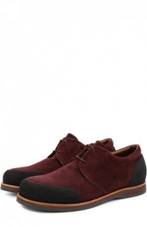 Замшевые ботинки с резиновым мысом и задником Zonkey Boot. Цвет: бордовый