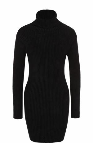 Приталенное вязаное платье-миди Iro. Цвет: черный