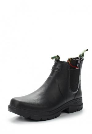 Резиновые ботинки Barbour. Цвет: черный