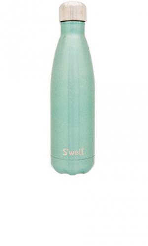 Бутылки для воды glitter 17oz Swell S'well. Цвет: зеленый