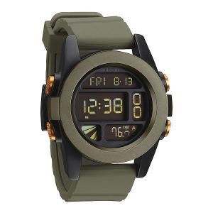Часы  Unit Surplus/Black/Orange Ano Nixon. Цвет: зеленый