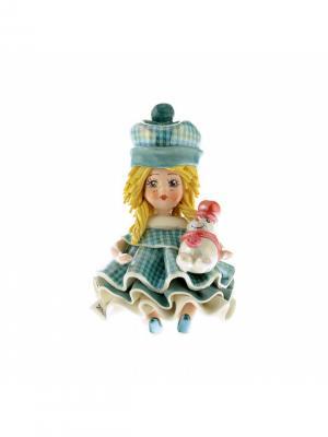 Статуэтка Девочка Зима Zampiva. Цвет: белый, голубой, кремовый