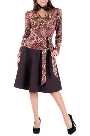 Комплект с юбкой Mannon. Цвет: коричневый