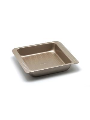 Форма для выпечки 27,5х23,4х5 см Zanussi. Цвет: бронзовый