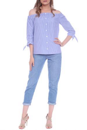 BLOUSE Emma Monti. Цвет: blue,  white