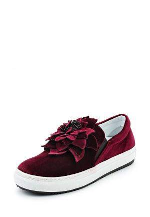 Слипоны Just Couture. Цвет: бордовый