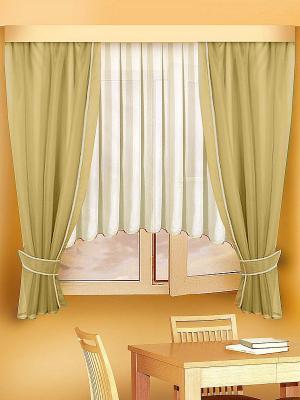 Комплект штор ZLATA KORUNKA. Цвет: бежевый