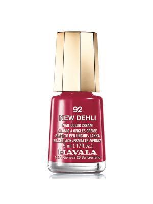 Лак для ногтей тон 92 New Delhi Mavala. Цвет: темно-красный