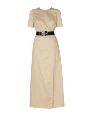 Длинное платье LOVE MOSCHINO. Цвет: бежевый