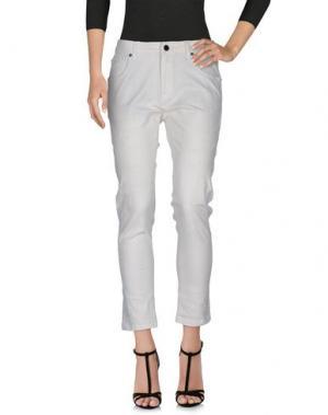 Джинсовые брюки JIJIL LE BLEU. Цвет: слоновая кость