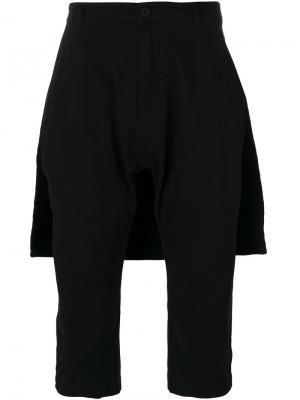 Укороченные брюки с молнией сзади Helmut Lang. Цвет: чёрный