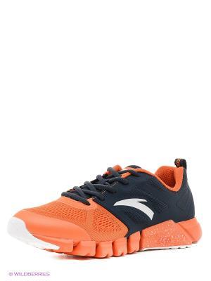 Кроссовки ANTA. Цвет: оранжевый, белый, темно-синий
