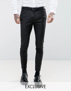 Noak Черные супероблегающие брюки. Цвет: черный