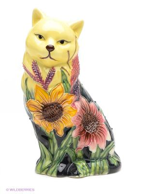 Фигурка Кошка Pavone. Цвет: черный, зеленый, желтый, розовый