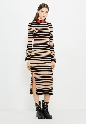 Платье Twin-Set Simona Barbieri. Цвет: бежевый