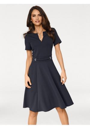 Платье Ashley Brooke. Цвет: желтый, темно-синий