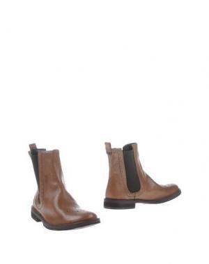 Полусапоги и высокие ботинки ESSEutESSE. Цвет: какао