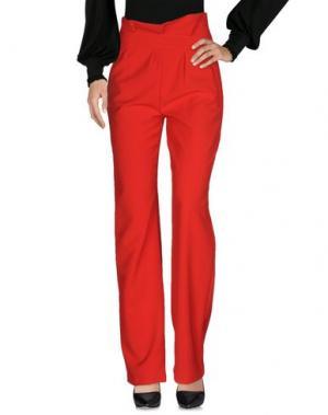 Повседневные брюки LORELLA SIGNORINO. Цвет: красный