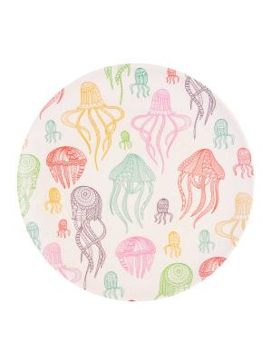 Набор тарелок обеденных Фиш Фан Эллифиш Ecowoo. Цвет: белый, голубой