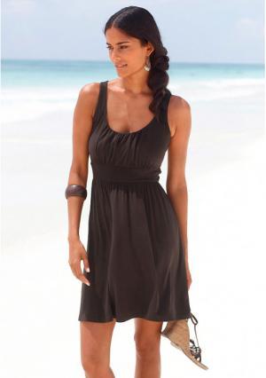 Пляжное платье Lascana. Цвет: зеленый, черный