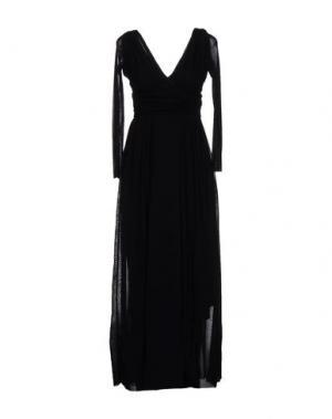 Длинное платье FUZZI. Цвет: черный