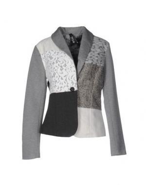 Пиджак DESIGUAL. Цвет: серый