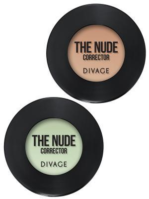 Набор №113 корректор для лица кремовый concealer the nude тон 02,04 DIVAGE. Цвет: темно-бежевый, светло-зеленый