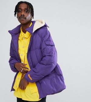The New County Дутая фиолетовая куртка. Цвет: фиолетовый