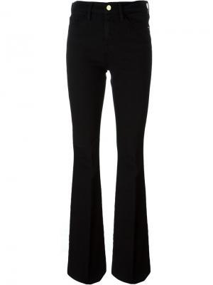 Расклешенные джинсы Frame Denim. Цвет: чёрный