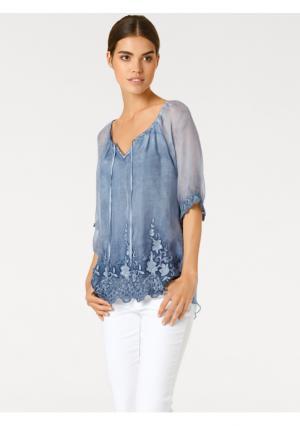 Блузка Linea Tesini. Цвет: синий