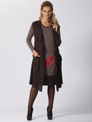 Комплект Amelia Lux. Цвет: темно-коричневый