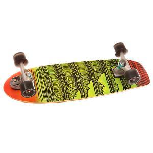 Скейт круизер  C7 Complete Stacked Assorted 9.5 x 31.25 (79.4 см) Carver. Цвет: зеленый,оранжевый