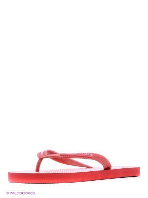 Шлепанцы U.S. Polo Assn.. Цвет: красный