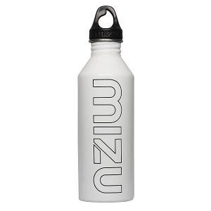 Бутылка для воды  M8 800ml Glossy White/Black Print Mizu. Цвет: белый