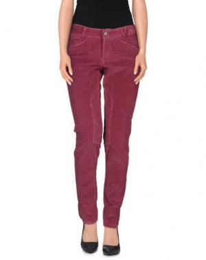 Повседневные брюки GANESH. Цвет: пурпурный