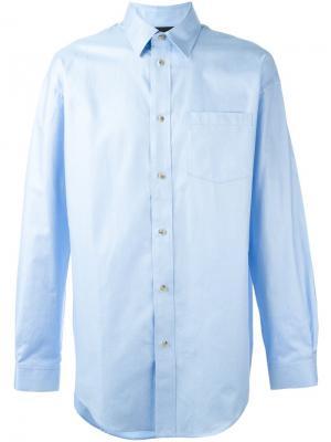 Рубашка с нагрудным карманом Alexander Wang. Цвет: синий