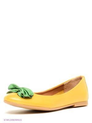 Балетки Francesco Donni. Цвет: желтый, зеленый