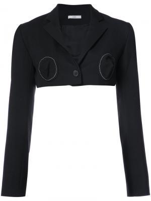 Cropped deconstructed blazer Tome. Цвет: чёрный