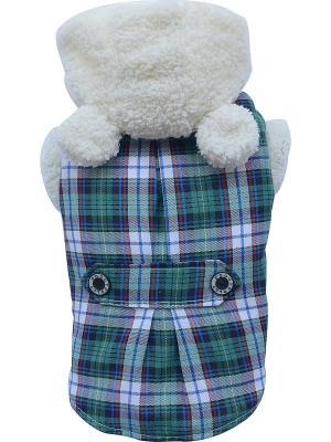 Пальто Doggy Dolly. Цвет: зеленый