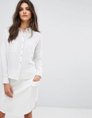 Suncoo Рубашка в полоску. Цвет: белый