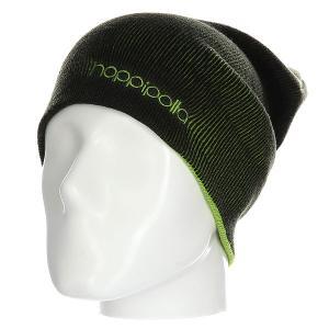 Шапка  Eiki Helgason Black/Green Hoppipolla. Цвет: черный,зеленый