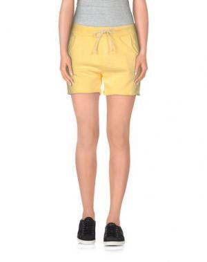 Повседневные шорты CLARK JEANS. Цвет: желтый